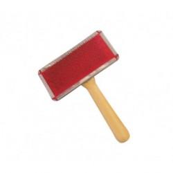 Carde metal manche bois 9 cm
